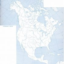 Физическая карта Северной Америки (контурная)