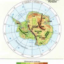 Подлёдный рельеф Антарктики