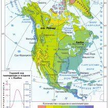 Среднегодовое количество осадков Северная Америка