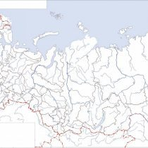 Субъекты РФ — Контурная карта