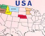 Игра Штаты США на карте